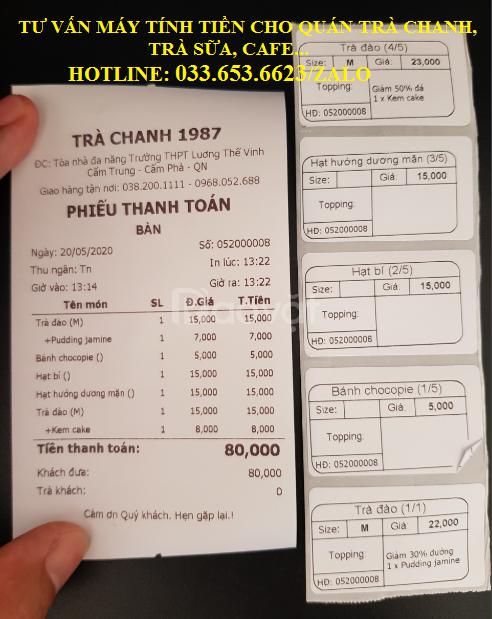 Bán máy tính tiền pos cho quán trà sữa tại An Giang