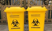 T,hùng rác y tế 60 lít màu vàng, thùng rác đạp chân 60 lít