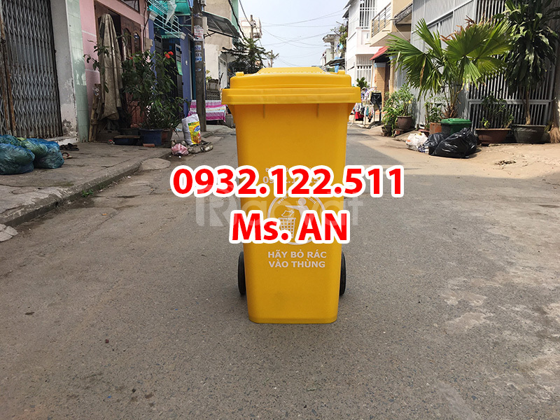 Thùng rác sinh hoạt 120l