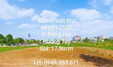 Bán lô biệt thự Mb2122 P. Đông Hải TP. Thanh Hóa sau show room Vinfast