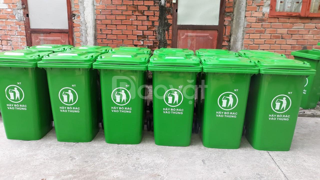 Thùng rác sinh hoạt 240l