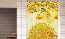 Gạch tranh cây tiền vàng HP02547