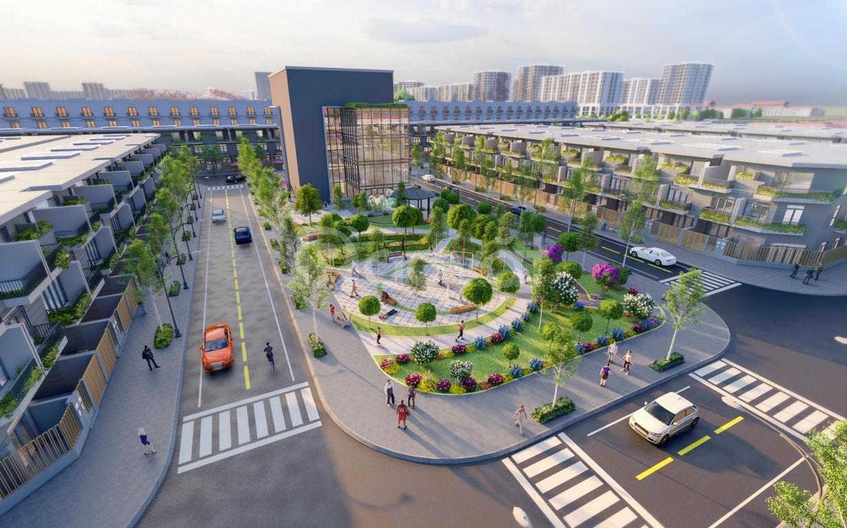 Đất Nhơn Trạch mặt tiền 25B Tôn Đức Thắng dự án The Centre House