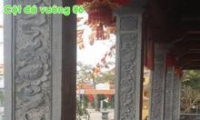 Cột đồng trụ ngoài hiên nhà thờ họ bằng đá đẹp tại Quảng Ninh
