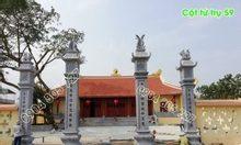 Bốn cột tứ trụ bằng đá làm cổng đình, chùa nhà thờ, đơn giản đẹp