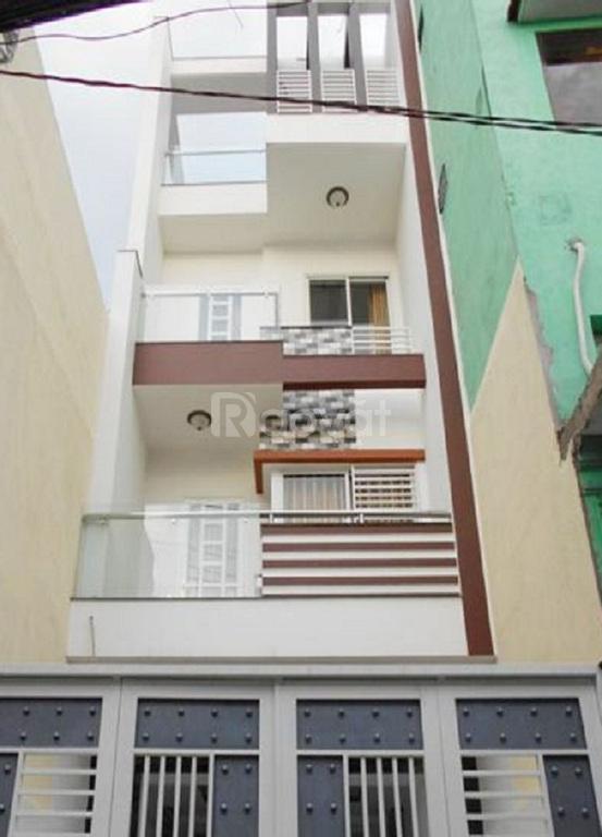 Bán nhà P5, Tân Bình, hẻm oto Cách Mạng Tháng 8, 4 tầng, 56m2