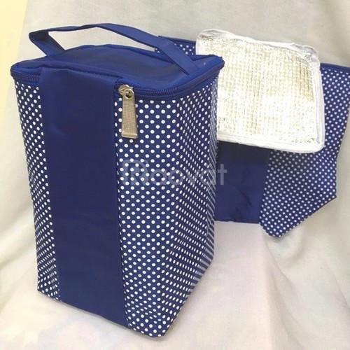 Combo 1 túi giữ nhiệt kèm 3 hộp thủy tinh chịu nhiệt 650ml, 580ml, 380ml