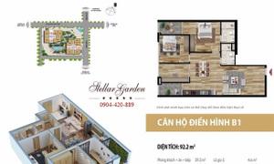 Bán gấp căn hộ Stellar Garden, 91m2, 3PN