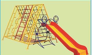 Thang leo đa năng cho bé mầm non vui chơi, vận động thể chất