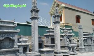 Cột đồng trụ ngoài hiên nhà bằng đá đẹp 56