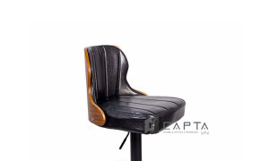 Ghế quầy bar lưng tựa ốp gỗ nệm PVC cao cấp nhập khẩu CB2266-P