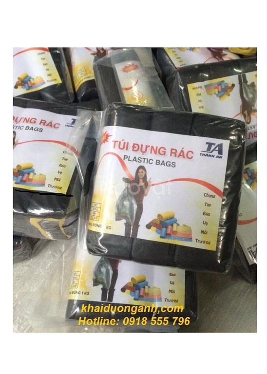 Túi đựng rác cuộn 3 màu hoặc đen, túi đựng rác cuộn tại Đồng Tháp