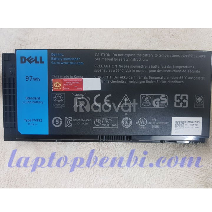Pin zin laptop 9cells 97wh DELL Precision