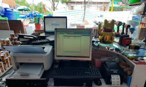 Máy tính tiền cho đại lý sơn tại Kiên Giang