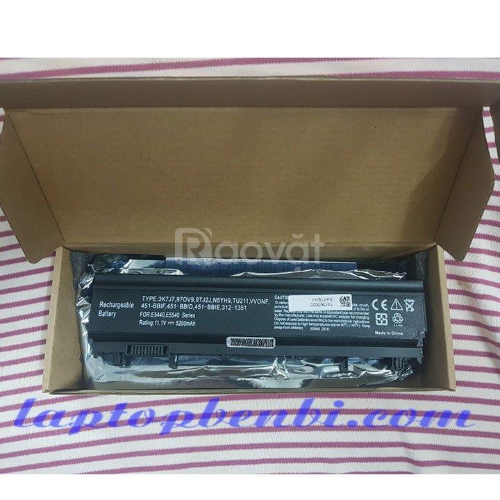 Pin laptop 6cells 5200mAh DELL Latitude E5440, E5540
