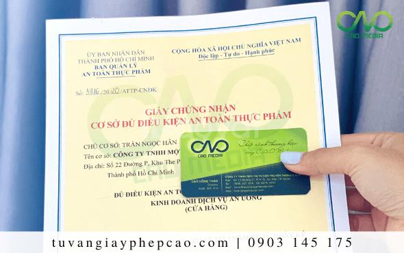 Dịch vụ làm giấy an toàn thực phẩm cho quán ăn quận Phú Nhuận