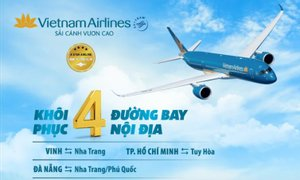 Vietnam Airlines khôi phục đường bay nội địa
