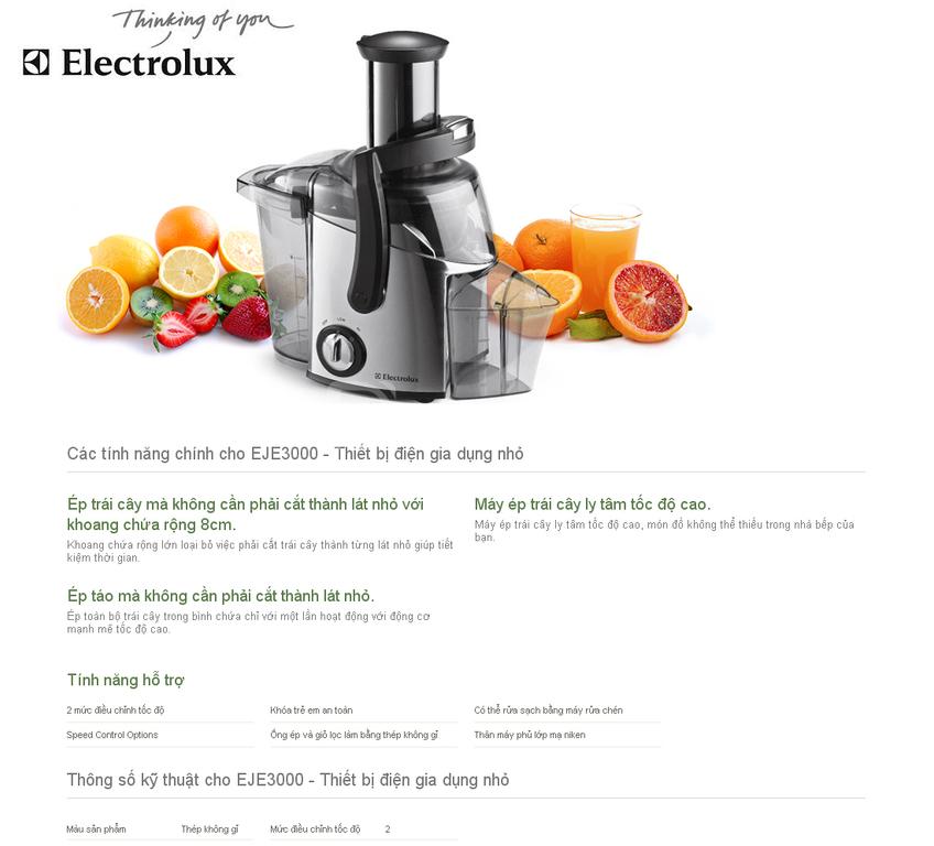 Thanh lý máy ép trái cây Electrolux còn xài tốt