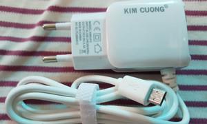 Cóc sạc nhanh Kim Cương dính liền dây dài 1,2m đầu Micro USB
