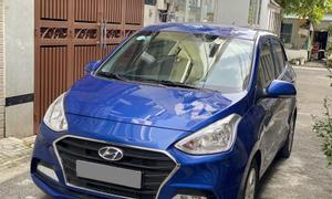 Bạn Hyundai I10 2019 tự động màu xanh, bản full