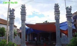 Bốn cột tứ trụ làm cổng đình chùa đẹp 53