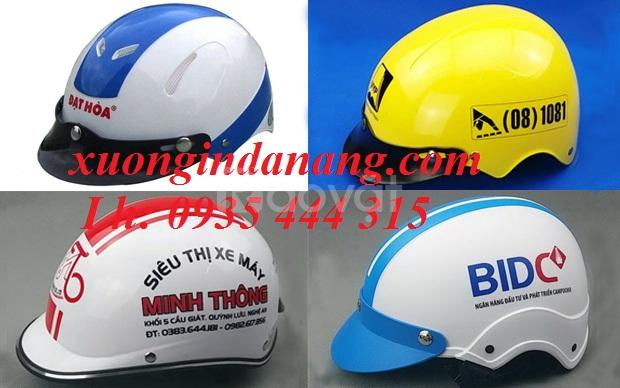 Xưởng sản xuât mũ bảo hiểm in logo chất lượng ở Đà Nẵng