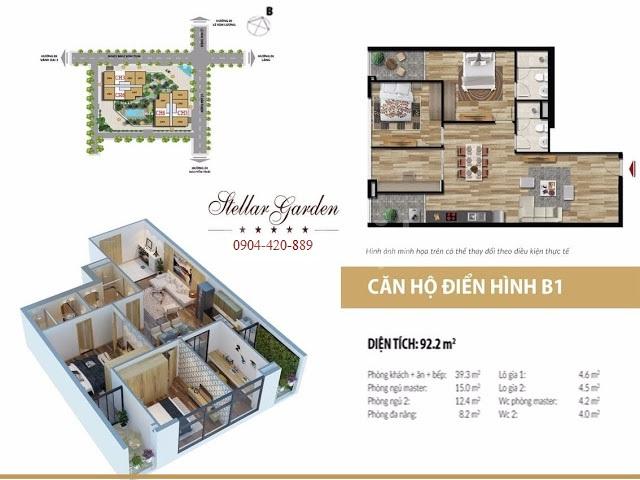 Bán gấp căn hộ Stellar Garden 91m2 3PN