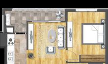 Bán căn hộ 60m2 gồm 1 ngủ và 1 phòng làm việc CC Cao cấp 6Th Element