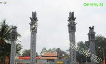Bốn cột tứ trụ dùng trong xây dựng Đình Chùa bằng đá 52