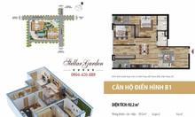 Bán căn hộ 91m2 2+1PN Stellar Garden