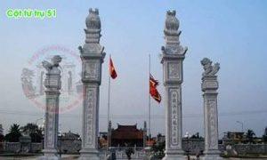 Bốn cột tứ trụ đá dùng làm cổng nhà thờ đình chùa đẹp 51