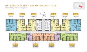 Bán căn hộ chung cư The Matrix One căn hộ 2PN, ban công đông nam