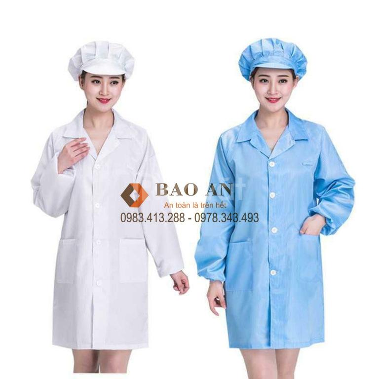 Áo blouse phòng sạch chống tĩnh điện