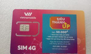 Sim 4G Vietnamobile sim up có 150GB, 1 tháng