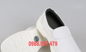 Giày bảo hộ mũi sắt màu trắng