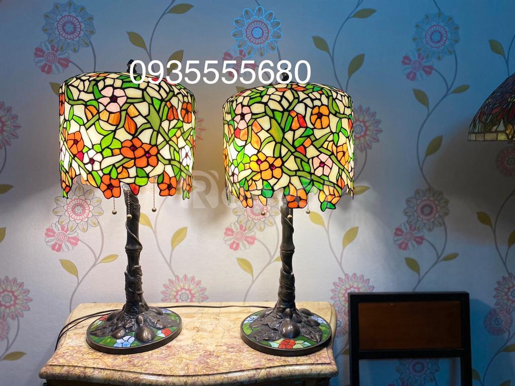 Giao lưu đôi đèn tiffany hoa rủ hàng Mỹ