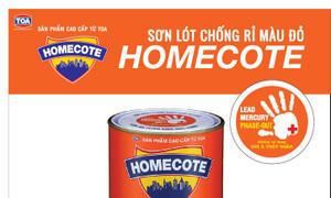 Đại lý cung cấp sơn chống rỉ Homecote màu đỏ lon 3 lít