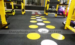 Thi công thảm cao su phòng gym giá rẻ