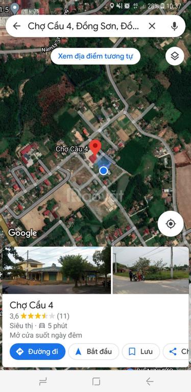 Đất cổng chợ Thuận Đức còn 1 lô, giá đầu tư
