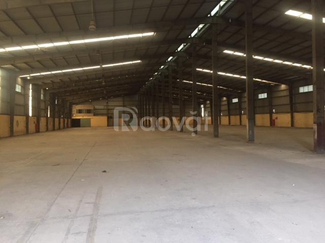 Cho thuê kho xưởng DT 1200m2 Nhổn Bắc Từ Liêm, Hà Nội