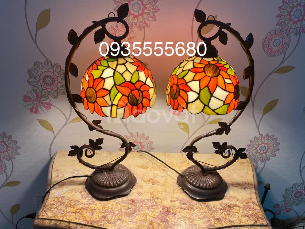 Giao lưu đôi đèn Tifany hoạ tiết hoa hướng dương