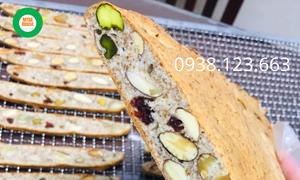 Bánh biscotti nguyên cám MTBA House, hỗ trợ ăn kiêng, giảm cân, gym