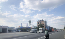 Lô đất 2 mặt tiền đường Lê Lợi phường Hòa Phú thành phố mới Bình Dương