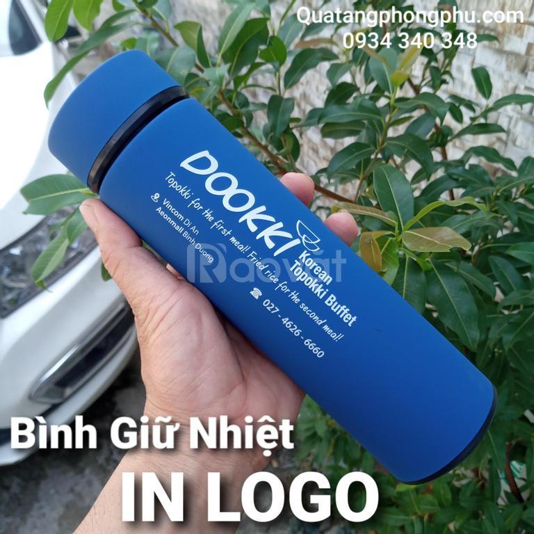 Bình giữ nhiệt in logo giá rẻ chất lượng tuyệt vời