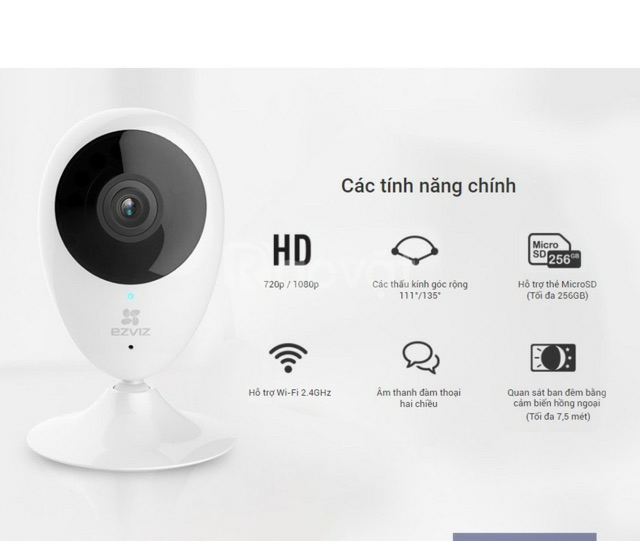 Camera wifi C2C 720 chân đế có gắn nam châm