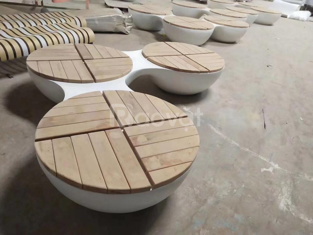 Bàn ghế composite thiết kế sang chảnh