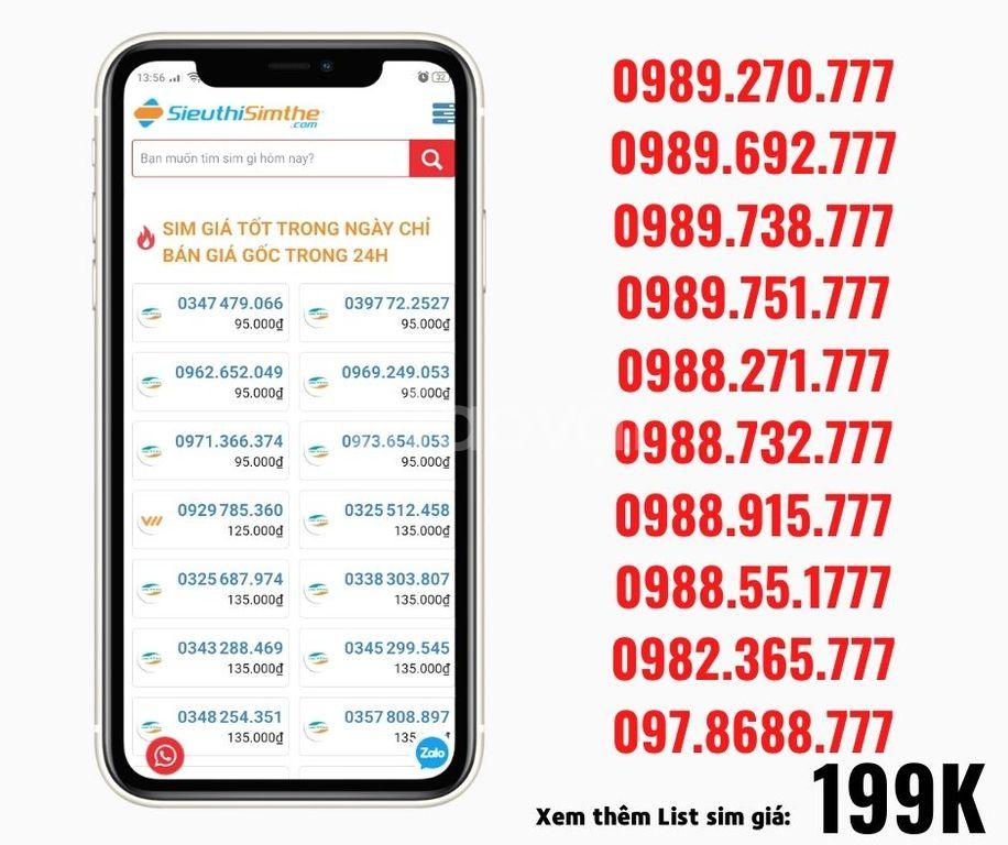 Sim đôi 789, làm số liên hệ bán hàng online