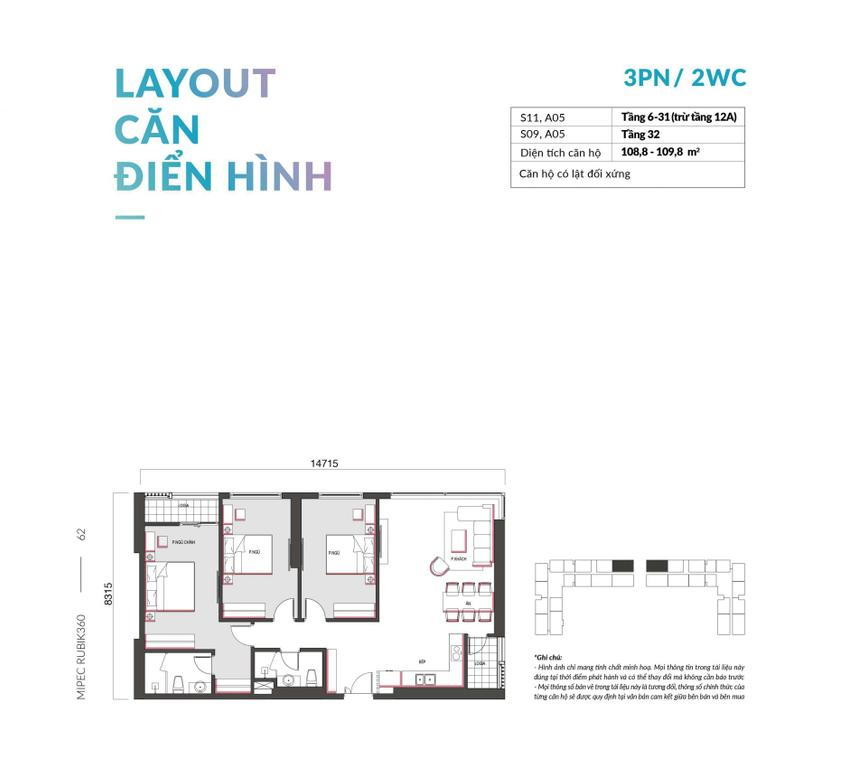 Bán CH 2-3 PN, giá rẻ dự án Mipec Cầu Giấy, full nội thất