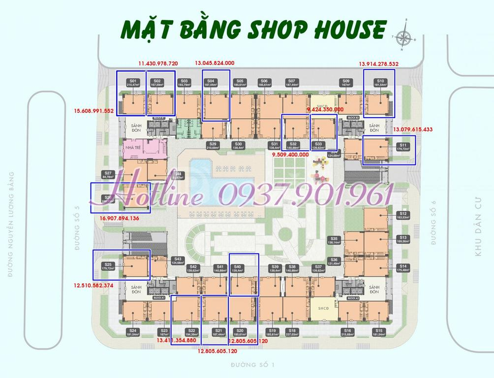 Bán shophouse 1 trệt 1 lầu, mặt tiền Nguyễn Lương Bằng, PMH, quận 7