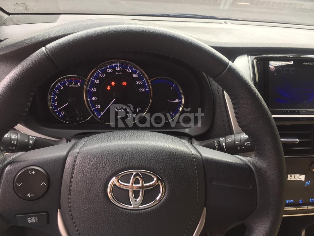 Xe gia đình Toyota Yaris màu trắng, mới 98%, 8000km